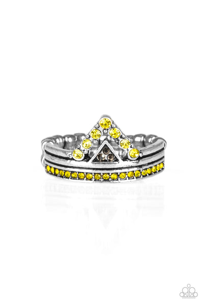 Paparazzi Accessories - Base Over Apex - Yellow Ring