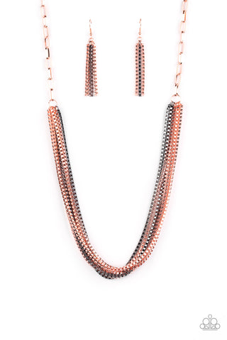 Paparazzi Accessories - Beat Box Queen - Copper Necklace