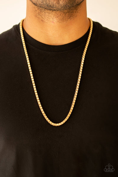 Paparazzi Accessories - Boxed In - Gold Necklace