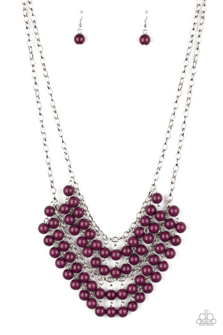 Paparazzi Accessories - Bubbly Boardwalk - Purple Necklace