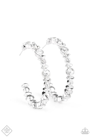 Paparazzi Accessories - Can I Have Your Attention? - White Earrings