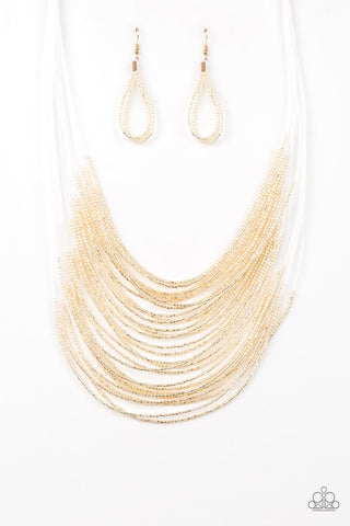 Paparazzi Accessories - Catwalk Queen - Gold Necklace