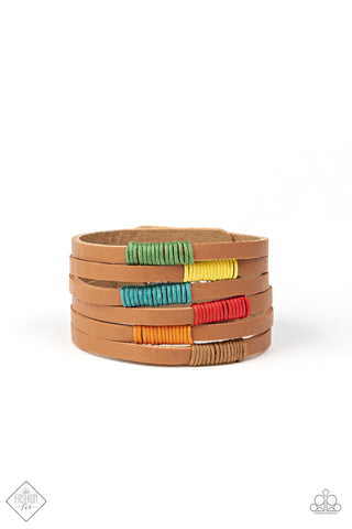 Paparazzi Accessories - Country Colors - Multicolor Bracelet