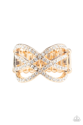 Paparazzi Accessories - Cross Action Couture - Gold Ring