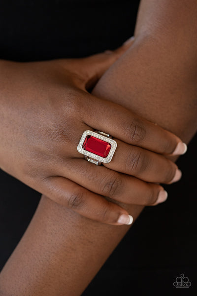 Paparazzi Accessories - Crown Jewel Jubilee - Red Ring
