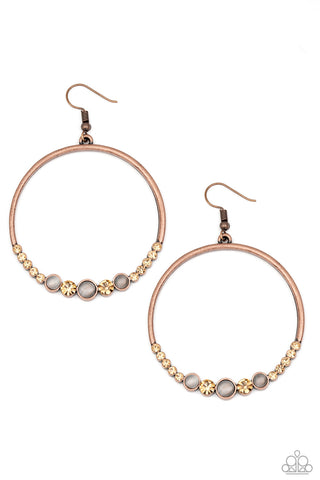 Paparazzi Accessories - Dancing Radiance - Copper Earrings
