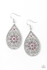 Paparazzi Accessories - Dinner Party Posh - Pink Earrings