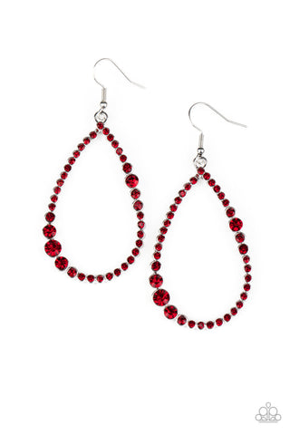 Paparazzi Accessories - Diva Dimension - Red Earrings