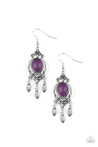 Paparazzi Accessories - Enchantingly Environmentalist - Purple Earrings