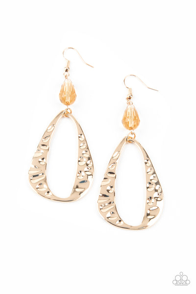 Paparazzi Accessories - Enhanced Elegance - Gold Earrings