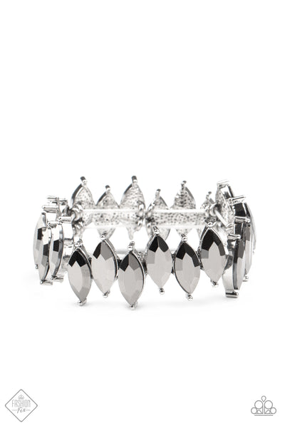 Paparazzi Accessories - Fiercely Fragmented - Silver Bracelet