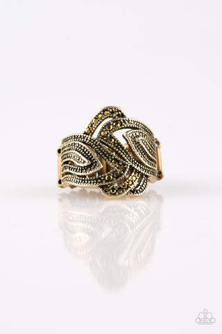 Paparazzi Accessories - Fire and Ice - Brass Ring