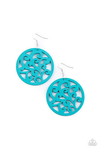 Paparazzi Accessories - Fresh Off The Vine - Blue Earrings