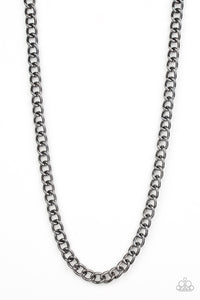 Paparazzi Accessories - Full Court - Black Necklace