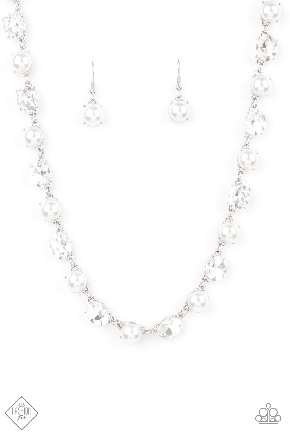 Paparazzi Accessories - Go-Getter Gleam - White Necklace