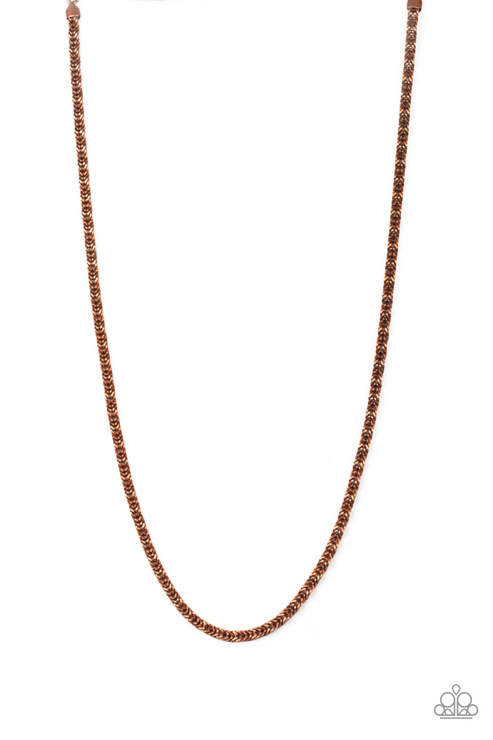 Paparazzi Accessories - Go Down Fighting - Copper Necklace