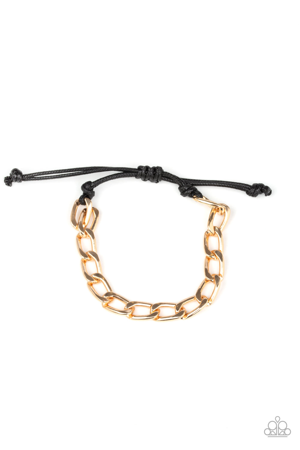Paparazzi Accessories - Goalpost - Gold Urban Bracelet
