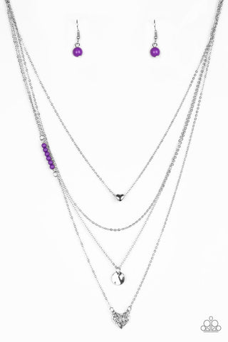 Paparazzi Accessories - Gypsy Heart - Purple Necklace