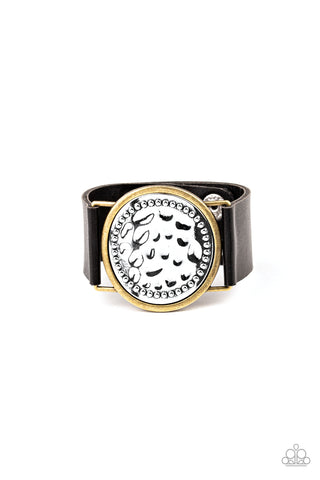 Paparazzi Accessories - Hold On To Your Buckle - Black Bracelet