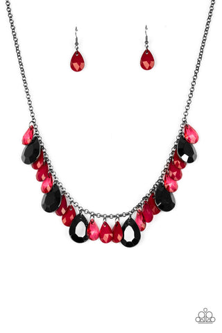Paparazzi Accessories - Hurricane Season - Red Necklace
