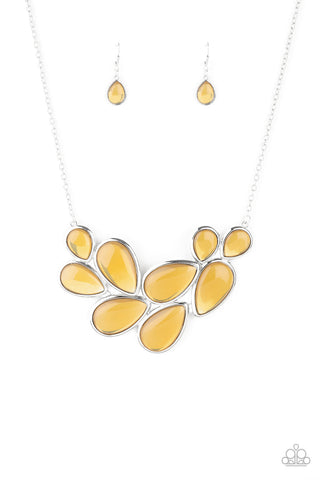 Paparazzi Accessories - Iridescently Irresistible - Yellow Necklace