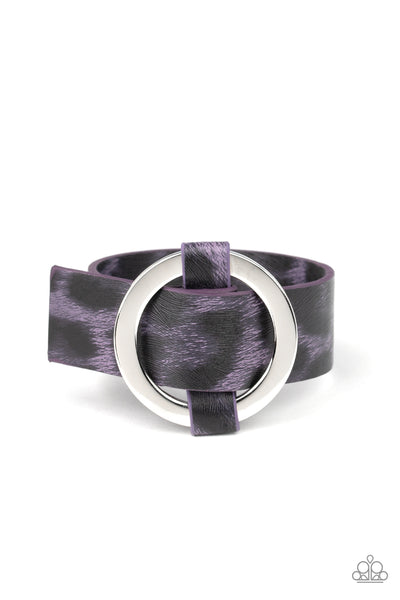 Paparazzi Accessories - Jungle Cat Couture - Purple Bracelet