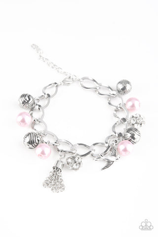 Paparazzi Accessories - Lady Love Dove - Pink Bracelet