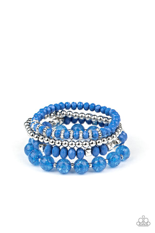 Paparazzi Accessories - Layered Luster - Blue Bracelet