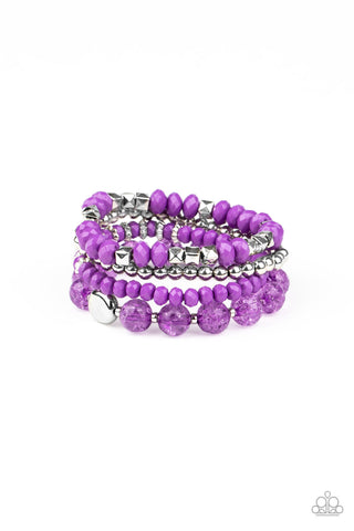 Paparazzi Accessories - Layered Luster - Purple Bracelet