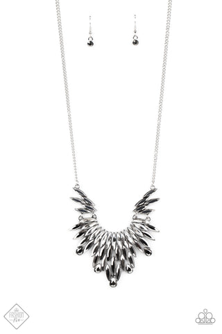 Paparazzi Accessories - Leave it to LUXE - Silver Necklace