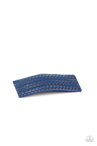 Paparazzi Accessories - Let Your Hair Down - Blue Hair Clip