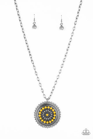 Paparazzi Accessories - Lost SOL - Yellow Necklace