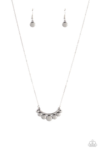 Paparazzi Accessories - Melodic Metallics - Silver Necklace