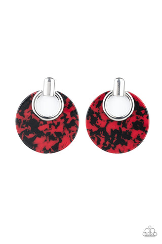 Paparazzi Accessories - Metro Zoo - Red Earrings