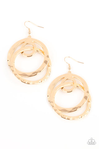 Paparazzi Accessories - Modern Relic - Gold Earrings