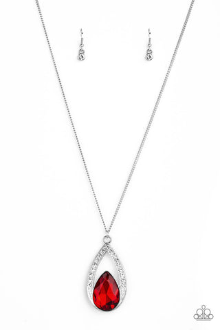 Paparazzi Accessories - Notorious Noble - Red Necklace