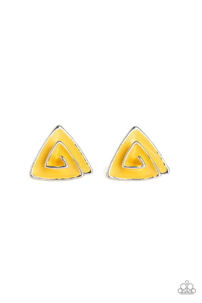 Paparazzi Accessories - On Blast - Yellow Earrings