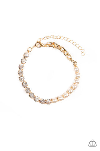 Paparazzi Accessories - Out Like A SOCIALITE - Gold Bracelet