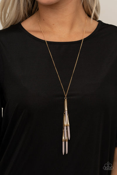 Paparazzi Accessories - PRIMITIVE and Proper - Silver Necklace