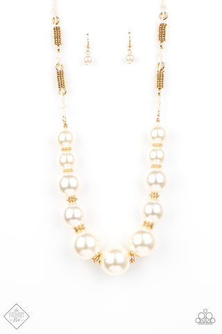 Paparazzi Accessories - Pearly Prosperity - Gold Necklace