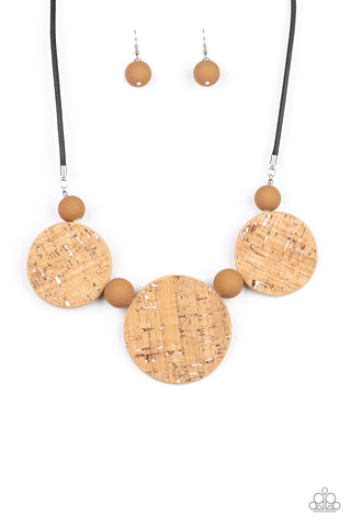 Paparazzi Accessories - Pop The Cork - White Necklace