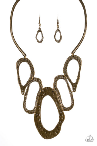 Paparazzi Accessories - Prime Prowess - Brass Necklace