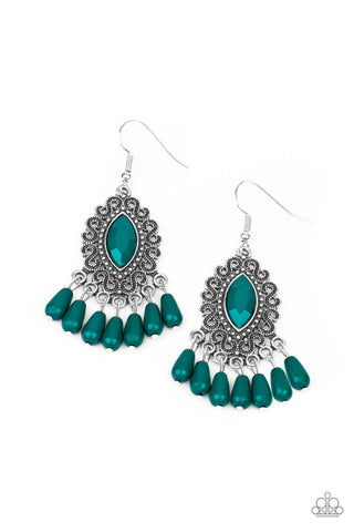 Paparazzi Accessories - Private Villa - Green Earrings