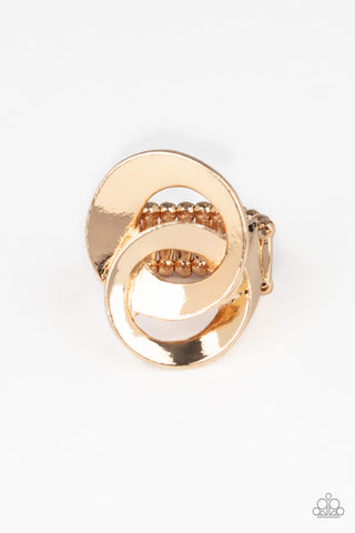 Paparazzi Accessories - Pro Top Spin - Gold Ring
