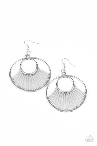 Paparazzi Accessories - Really High-Strung - Silver Earrings