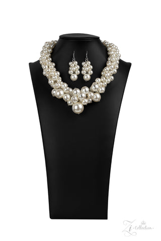 Paparazzi Accessories - Regal - White Necklace Set