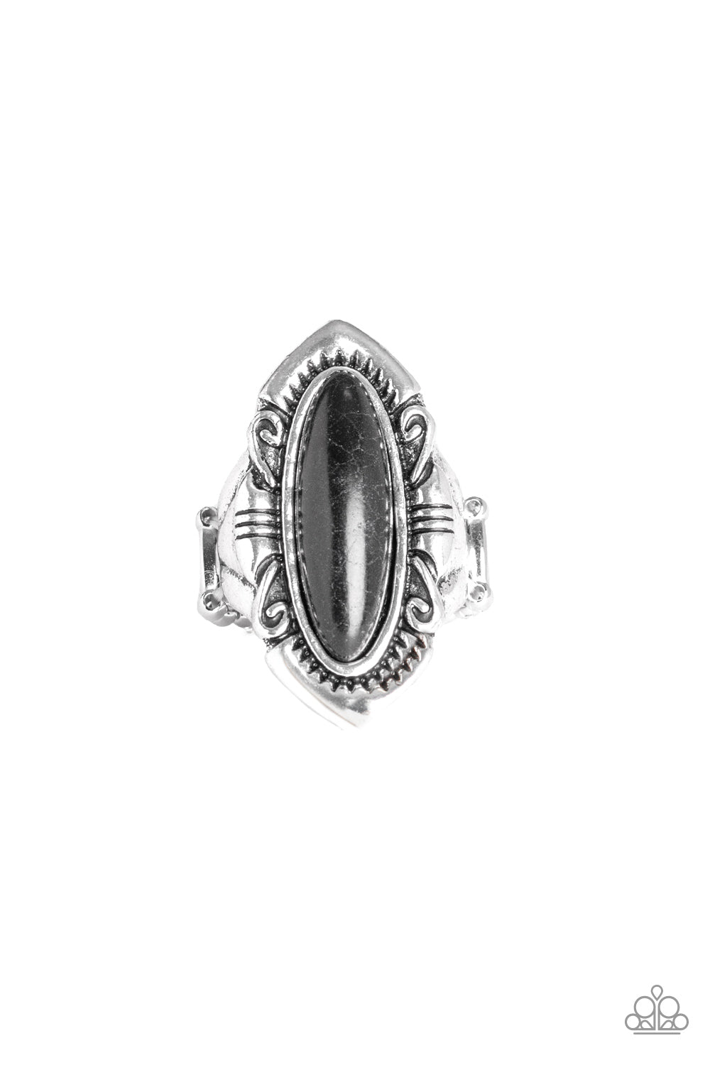 Paparazzi Accessories - Santa Fe Serenity - Black Ring