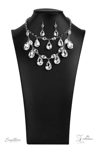 Paparazzi Accessories - The Sarah - White Necklace Set