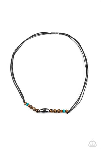 Paparazzi Accessories - Timberland Trail - Multicolor Urban Necklace