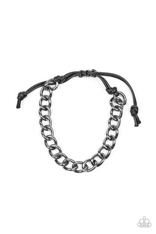 Paparazzi Accessories - Sideline - Black Bracelet